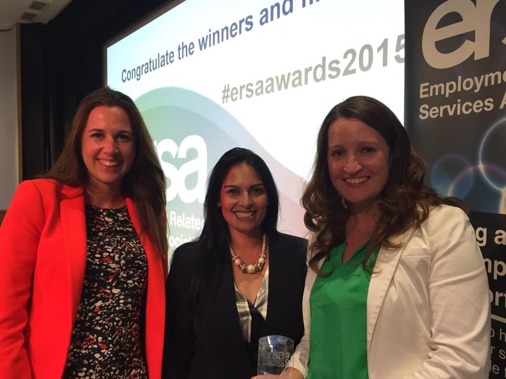 Three women smiling at camera at ERSA awards